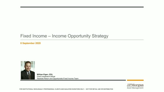 JPMorgan Investment Funds – Income Opportunity Fund