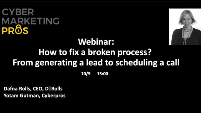 How to fix a broken process? From generating a lead to scheduling a call