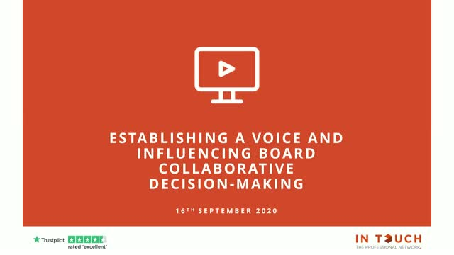 Establishing a Voice & Influencing Board Collaboration