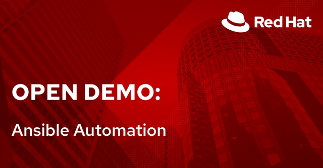 Open Demo: Ansible Automation (8/31)