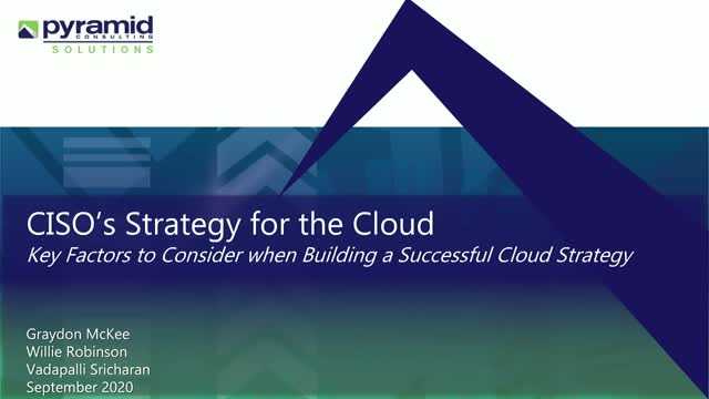 CISO Strategies for the Cloud
