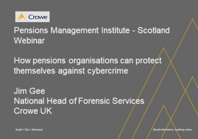 Pensions, Cyber Risk and topical DC issues