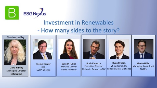 Investment in renewables - How many sides to the story?