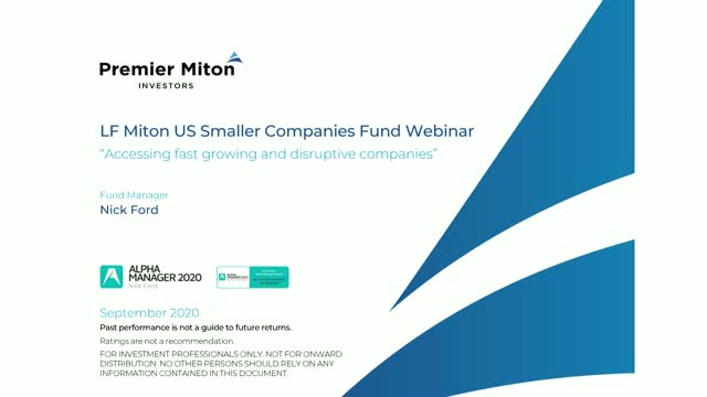 LF Miton US Smaller Companies Fund webinar with Nick Ford