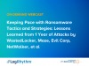 Keeping pace with ransomware: Lessons learnt in the past year