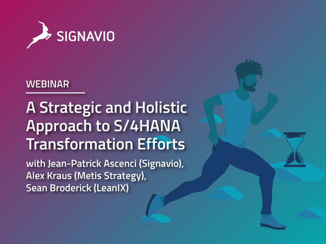 A Strategic and Holistic Approach to S/4HANA Transformation Efforts