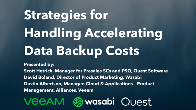 Strategies for Handling Accelerating Data Backup Costs