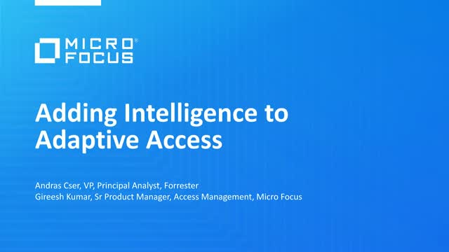 Adding Intelligence to Adaptive Access
