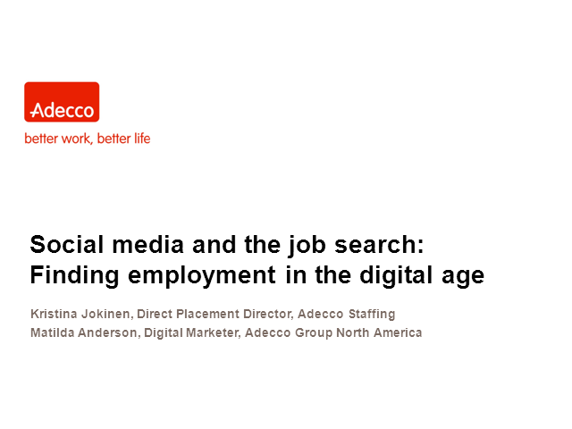 Social media and the job search: Finding employment in the digital age