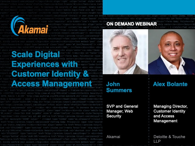 Scale Digital Experiences with Customer Identity & Access Management