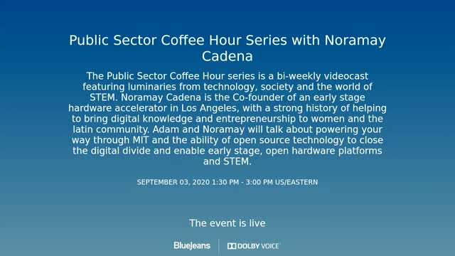 Public Sector Coffee Hour - Noramay Cadena