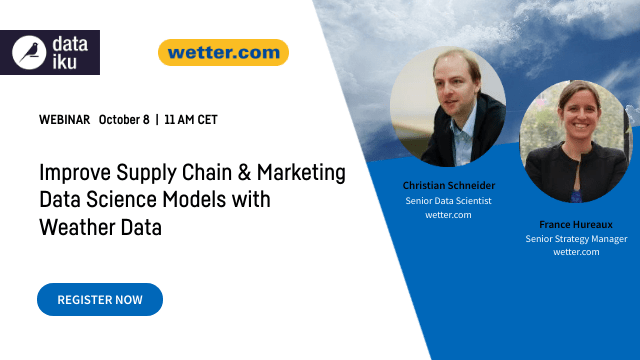 Improve Supply Chain and Marketing Data Science Models with Weather Data