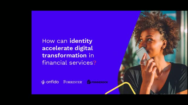 How can identity accelerate digital transformation in financial services?
