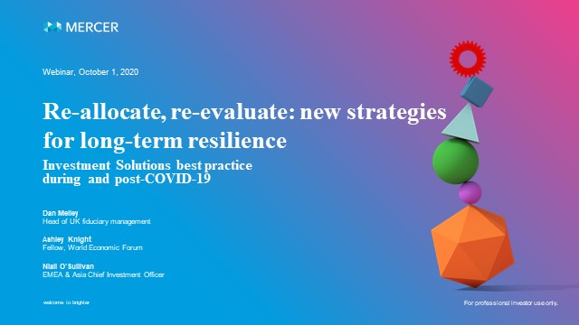 Re-allocate, re-evaluate: new strategies for long-term resilience