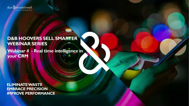 D&B Hoovers Webinar Series: Real Time Intelligence in your CRM