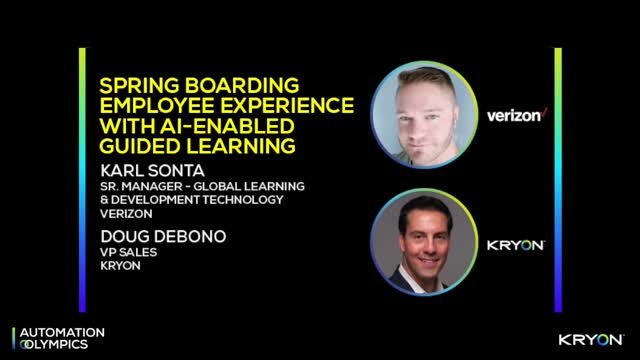 Spring Boarding Employee Experience With AI-Enabled Guided Learning - Verizon