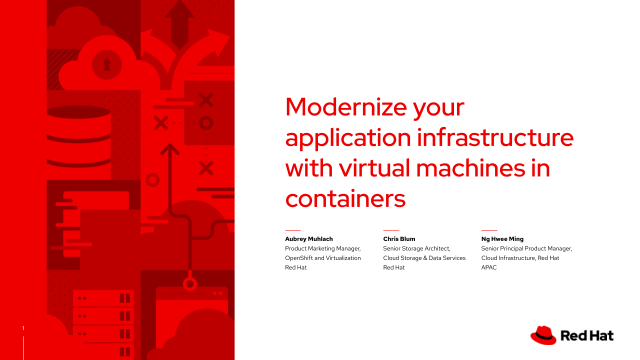 Modernize your application infrastructure with virtual machines in containers