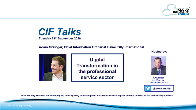 CIF Talks: Digital Transformation in the professional service sector