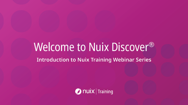 Welcome To Nuix Discover