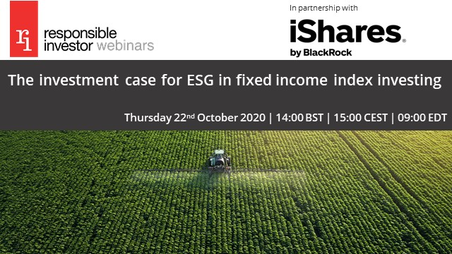 The investment case for ESG in fixed income index investing