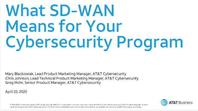What SD-WAN means for your cybersecurity program