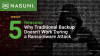 5 Reasons Why Traditional Backup Doesn't Work During a Ransomware Attack