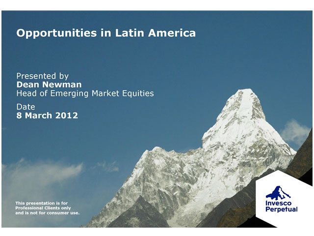 Investment update - Latin American Equities