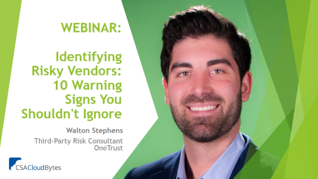 Identifying Risky Vendors: 10 Warning Signs You Shouldn't Ignore