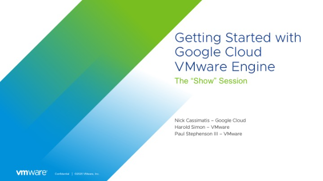 Getting Started with Google Cloud VMware Engine