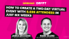 How to Create a Two-Day Virtual Event with 8,698 Attendees in Just Six Weeks