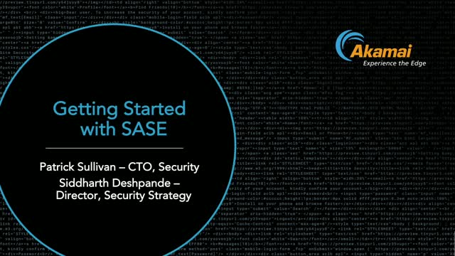 Getting Started with SASE