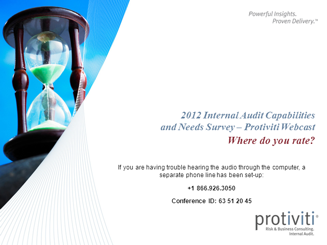 2012 Internal Audit Capabilities and Needs Survey Webinar