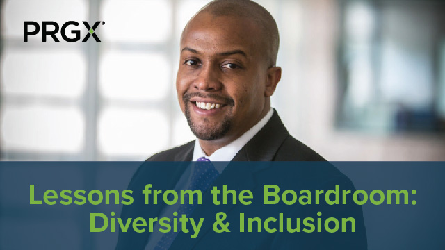 PRGXchange Virtual - Lessons from the Boardroom: Diversity and Inclusion