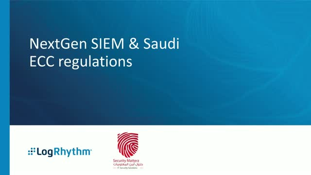 NextGen SIEM & Saudi ECC regulations