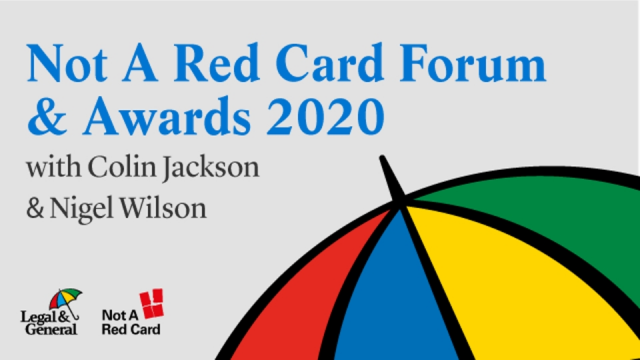 Welcome to Not A Red Card Forum & Awards 2020 with Colin Jackson & Nigel Wilson