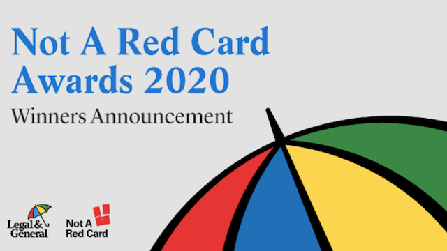 Not A Red Card Awards 2020 - Winners Announcement