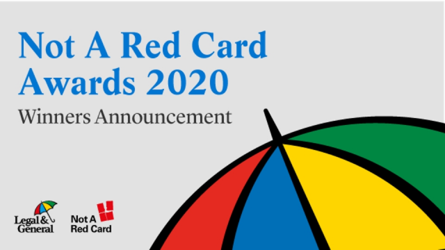 Not A Red Card Awards 2020 – Winners Announcement