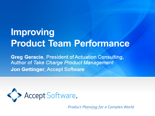 Improving Product Team Performance