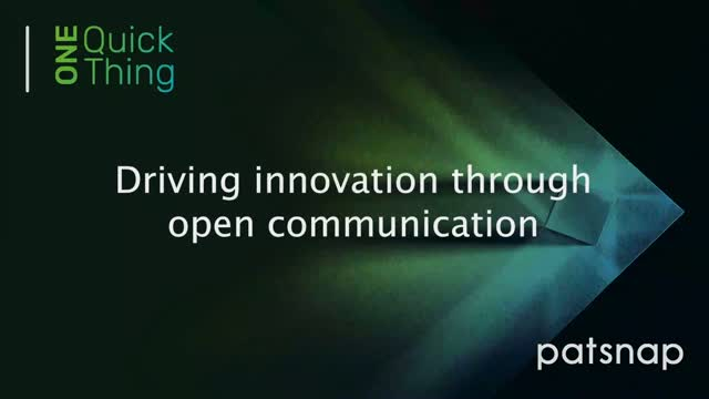 One Quick Thing - Driving innovation through open communication