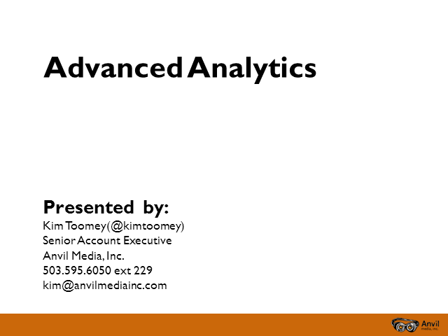 Advanced Analytics – Data discoveries you can use