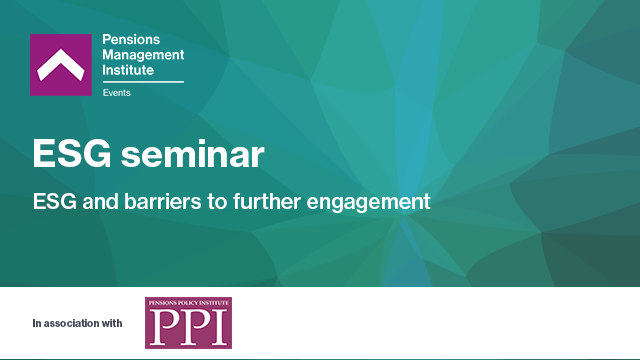 ESG and barriers to further engagement