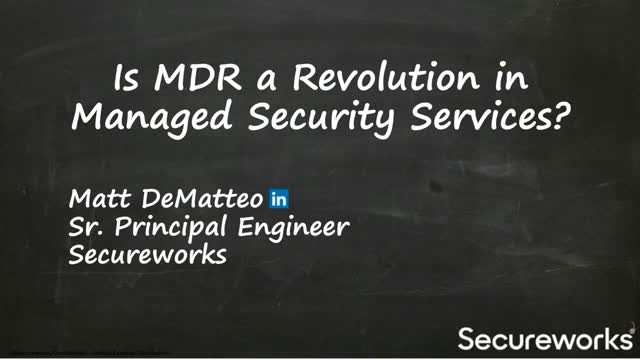Is MDR a Revolution in Managed Security Services?
