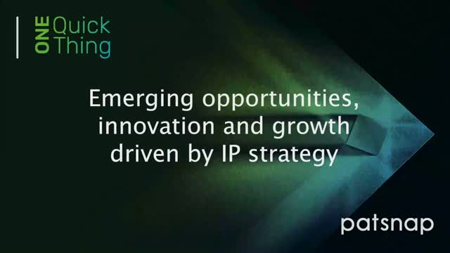 One Quick Thing - Emerging opportunities, innovation and growth