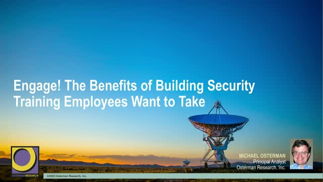 Engage! The Benefits of Building Security Training Employees Want to Take