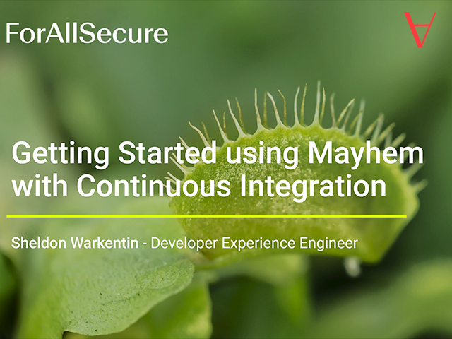 Getting Started Using Mayhem with Continuous Integration