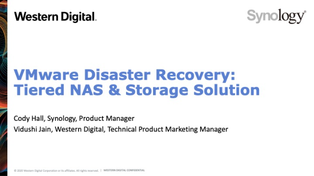 VMware Disaster Recovery: Tiered NAS and Storage Solution