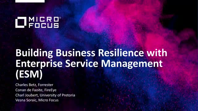 Building Business Resilience with Enterprise Service Management (ESM)