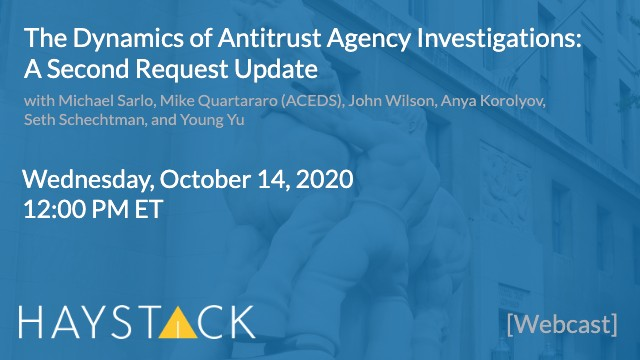 The Dynamics of Antitrust Agency Investigations: A Second Request Update