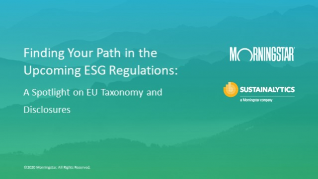 Finding your path in the upcoming ESG regulations