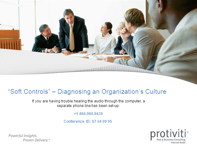 """Soft Controls"" - Diagnosing an Organization's Culture"